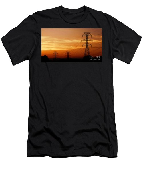 Down The Line Men's T-Shirt (Slim Fit) by Christy Ricafrente
