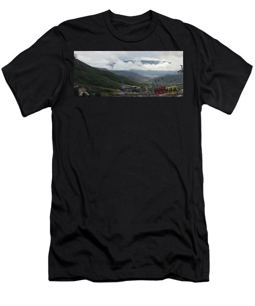 Down The Valley At Snowmass #3 Men's T-Shirt (Athletic Fit)