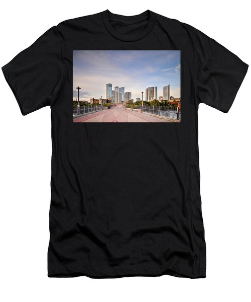 Downtown Austin Skyline From Lamar Street Pedestrian Bridge - Texas Hill Country Men's T-Shirt (Athletic Fit)
