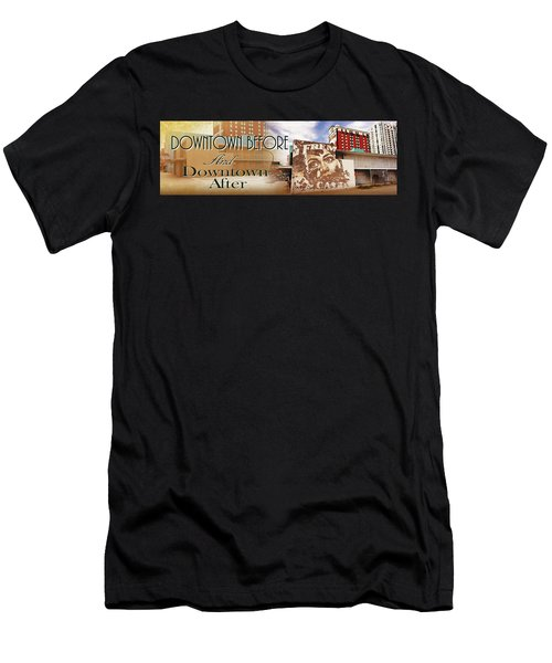 Downtown Before And Downtown After Men's T-Shirt (Athletic Fit)