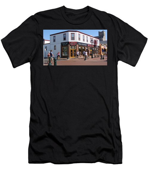 Downtown Cape May New Jersey Men's T-Shirt (Slim Fit) by Rod Jellison