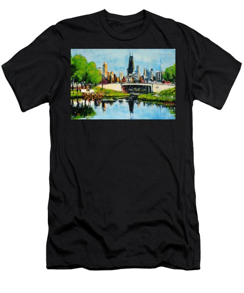 Downtown Chicago From Lincoln Park Men's T-Shirt (Athletic Fit)