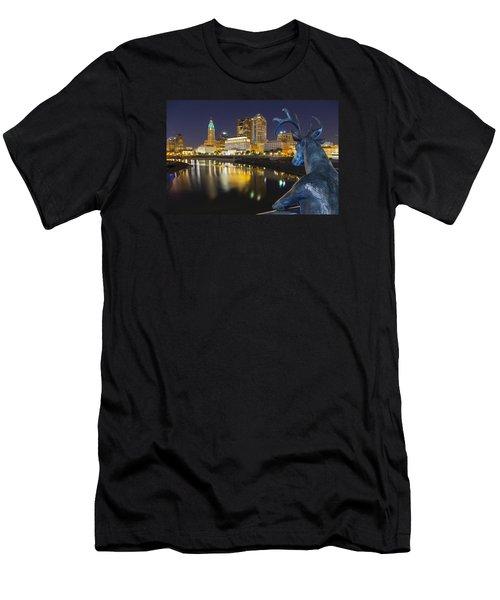 Downtown Deer View Columbus Men's T-Shirt (Athletic Fit)