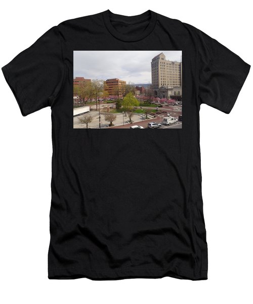 Downtown In Springtime Men's T-Shirt (Athletic Fit)