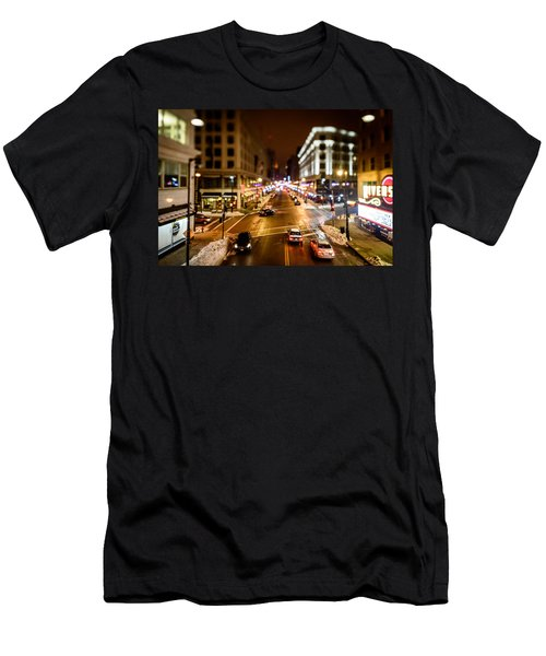 Downtown In The Itty-bitty City Men's T-Shirt (Athletic Fit)