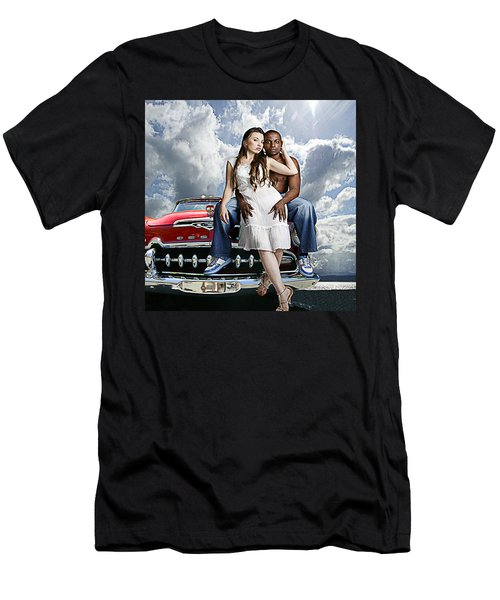 Men's T-Shirt (Slim Fit) featuring the photograph Downtown by Jeff Burgess