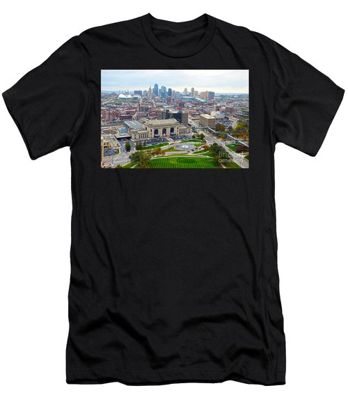 Downtown Kansas City From Liberty Memorial Tower Men's T-Shirt (Athletic Fit)