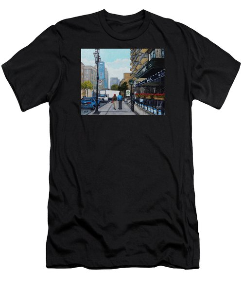Downtown Montreal Men's T-Shirt (Slim Fit) by Reb Frost