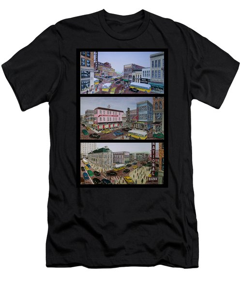 Downtown Portsmouth 1948 Men's T-Shirt (Slim Fit) by Frank Hunter