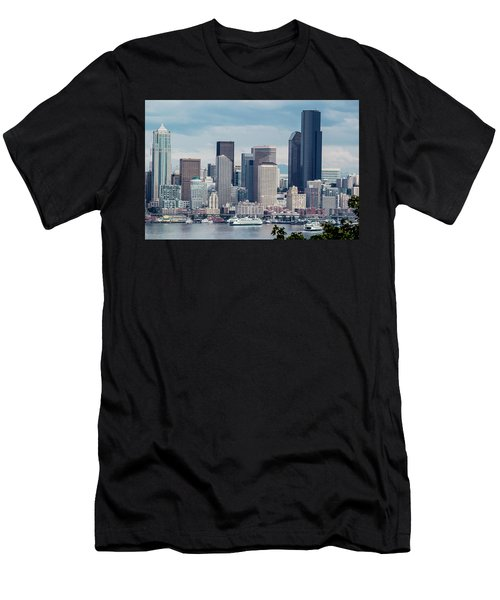 Downtown Seattle And Ferries Men's T-Shirt (Athletic Fit)