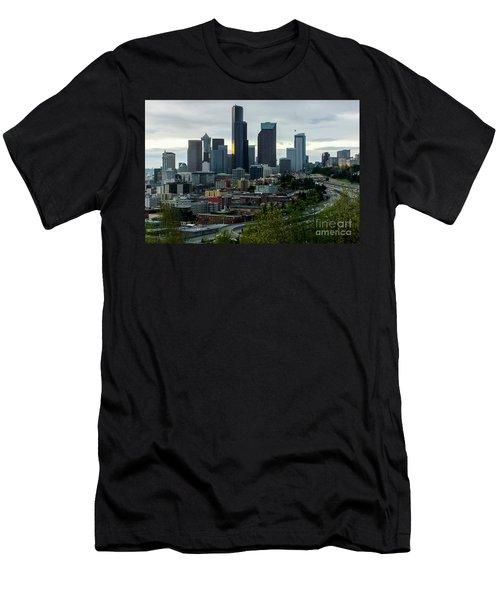 Downtown Seattle,washington Men's T-Shirt (Athletic Fit)