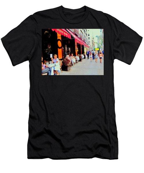 Downtown Sidewalk Men's T-Shirt (Athletic Fit)