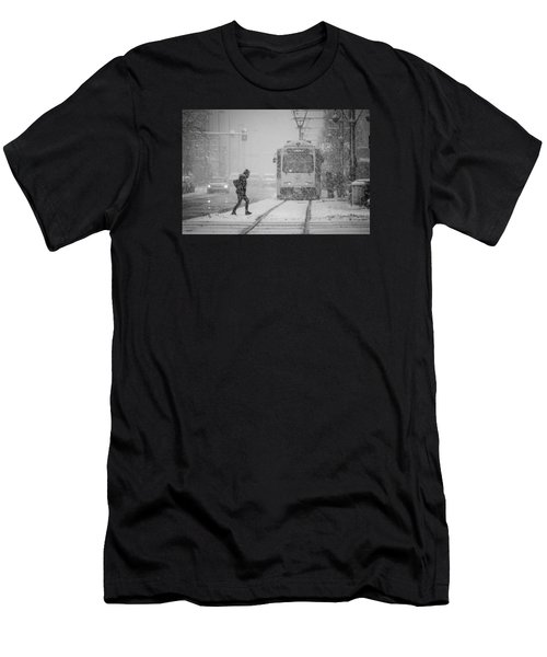 Downtown Snow Storm Men's T-Shirt (Athletic Fit)