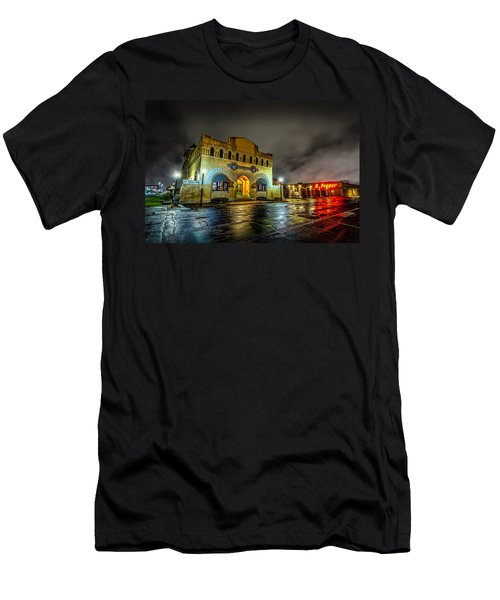Men's T-Shirt (Athletic Fit) featuring the photograph Dr Pepper Museum by David Morefield