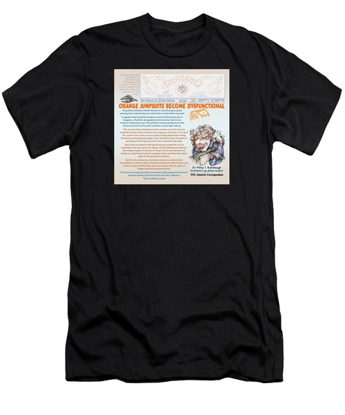 Real Fake News Antarctic Correspondent 1 Men's T-Shirt (Athletic Fit)