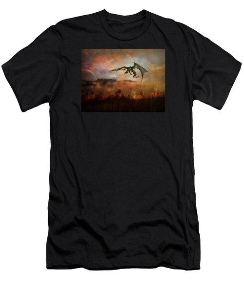 Dracarys Men's T-Shirt (Slim Fit) by Lilia D