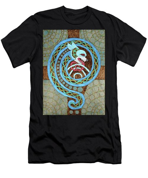 Dragon And The Circles Men's T-Shirt (Athletic Fit)