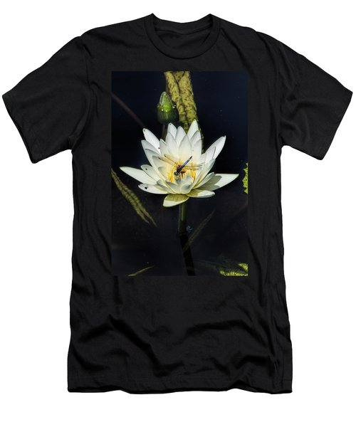 Dragon Fly On Lily Men's T-Shirt (Athletic Fit)