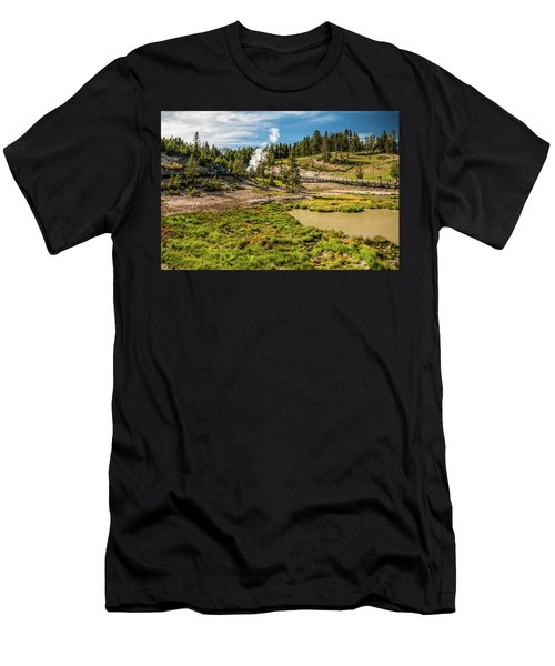 Dragon Geyser At Yellowstone Men's T-Shirt (Athletic Fit)