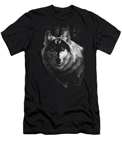 Dragon Wolf T-shirt Men's T-Shirt (Slim Fit) by Stanley Morrison