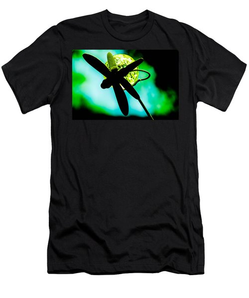 Dragonfly Crystal Men's T-Shirt (Athletic Fit)