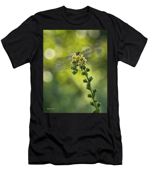 Dragonfly Flower Men's T-Shirt (Athletic Fit)