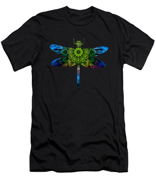 Dragonfly Kaleidoscope Men's T-Shirt (Athletic Fit)