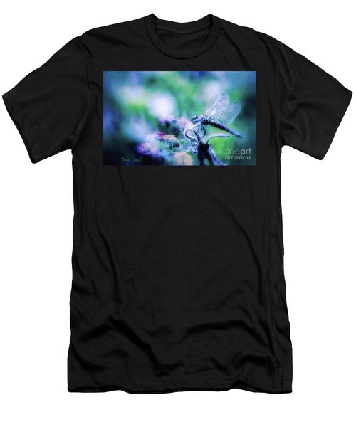 Dragonfly On Lantana-blue Men's T-Shirt (Athletic Fit)