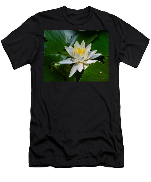 Dragonfly On Waterlily  Men's T-Shirt (Athletic Fit)