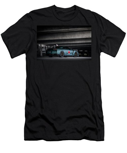 Men's T-Shirt (Slim Fit) featuring the digital art Dragon's Lair by Douglas Pittman
