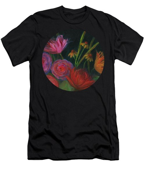 Dramatic Floral Still Life Painting Men's T-Shirt (Athletic Fit)