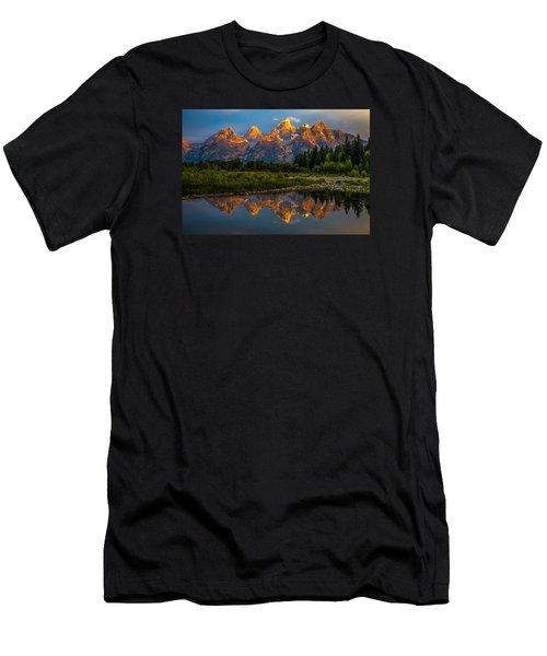 Dramatic Grand Teton Sunrise Men's T-Shirt (Athletic Fit)