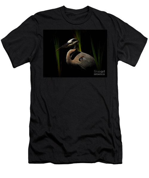 Dramatic Heron Men's T-Shirt (Athletic Fit)