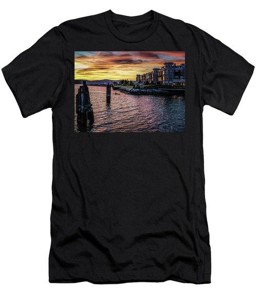 Dramatic Hudson River Sunset Men's T-Shirt (Athletic Fit)