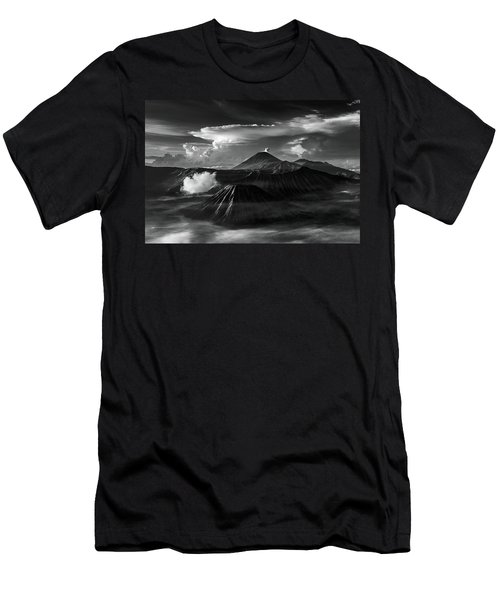 Men's T-Shirt (Athletic Fit) featuring the photograph Dramatic View Of Mount Bromo by Pradeep Raja Prints