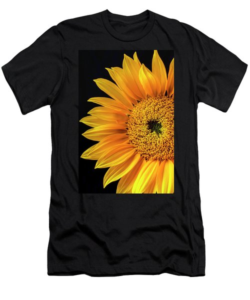 Dramatic Yellow Sunflower Men's T-Shirt (Athletic Fit)