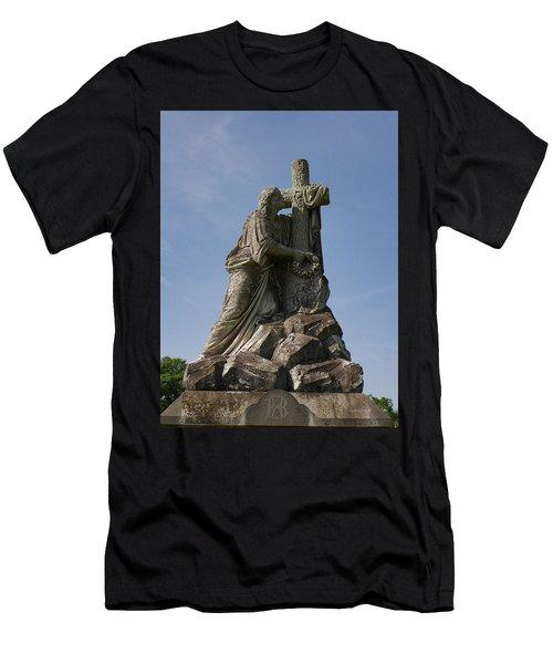 Draped Cross Men's T-Shirt (Athletic Fit)