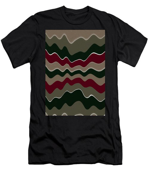 Draw The Line Original Abstract Expressionism Art Painting. Men's T-Shirt (Slim Fit) by RjFxx at beautifullart com