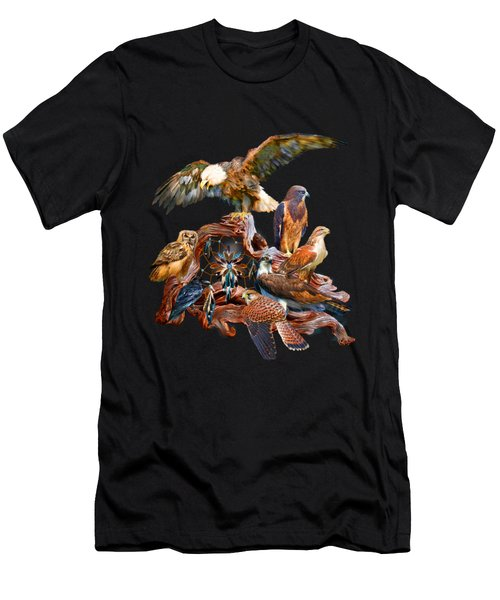 Dream Catcher - Spirit Birds Men's T-Shirt (Athletic Fit)