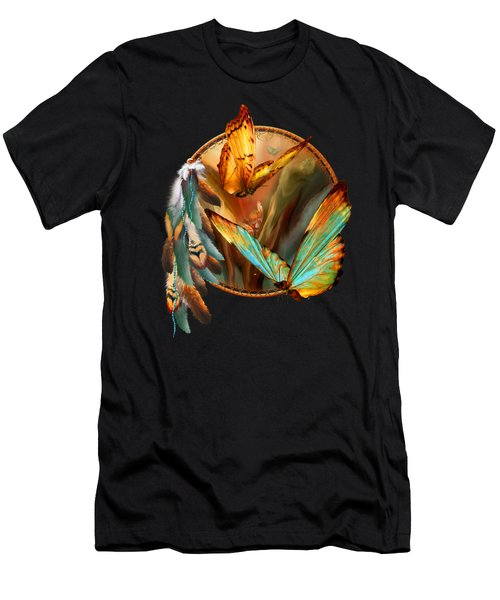 Dream Catcher - Spirit Of The Butterfly Men's T-Shirt (Athletic Fit)