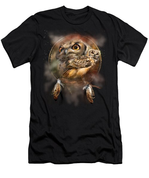 Dream Catcher - Spirit Of The Owl Men's T-Shirt (Athletic Fit)