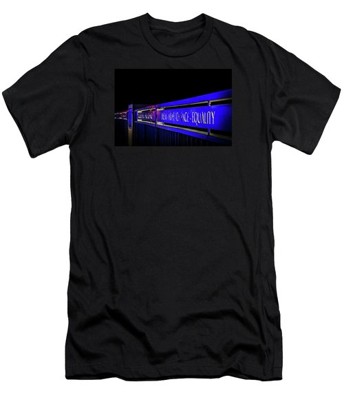 Dream-hope-change-equality Martin Lurther Kin Bridge - Fort Wayne Indiana Men's T-Shirt (Athletic Fit)
