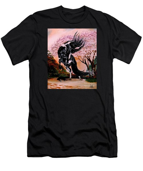 Dream Horse Series #2050 Mustang Valley Men's T-Shirt (Slim Fit) by Cheryl Poland