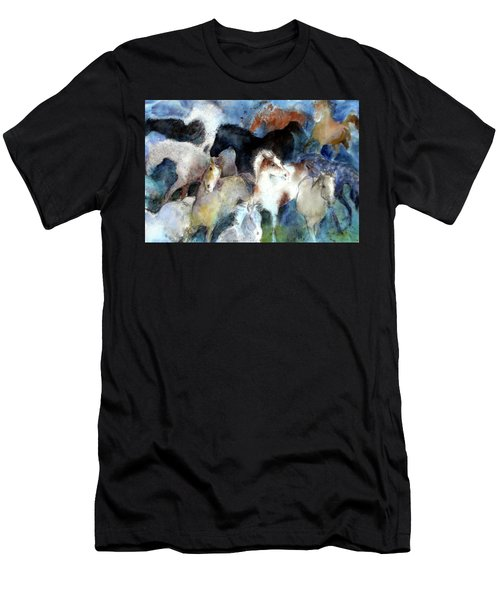 Dream Of Wild Horses Men's T-Shirt (Athletic Fit)
