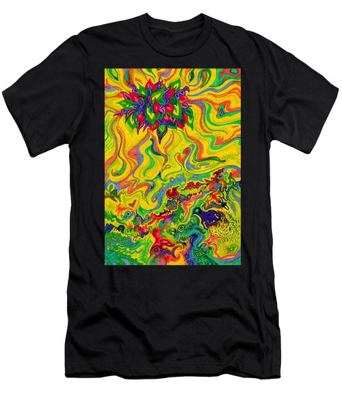 Dream-scaped Swamp Garden 2 Men's T-Shirt (Athletic Fit)