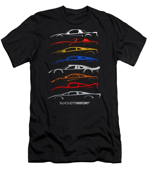 Dreamcars Of 90s Silhouettehistory Men's T-Shirt (Athletic Fit)