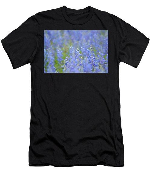 Men's T-Shirt (Slim Fit) featuring the photograph Dreaming Bluebonnets 1 by Carolina Liechtenstein