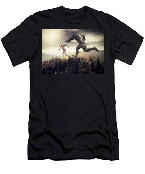 Dreaming Of A Nameless Fear Men's T-Shirt (Slim Fit) by John Alexander