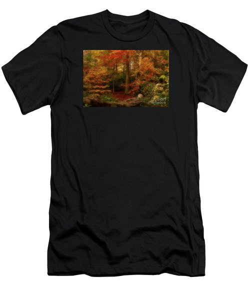 Dreamy Forest Glade In Fall Men's T-Shirt (Athletic Fit)
