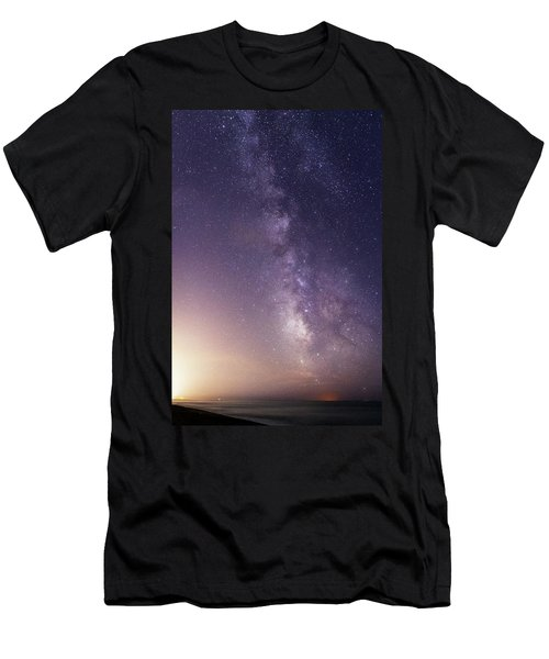 Dreamy Milky Way Men's T-Shirt (Athletic Fit)